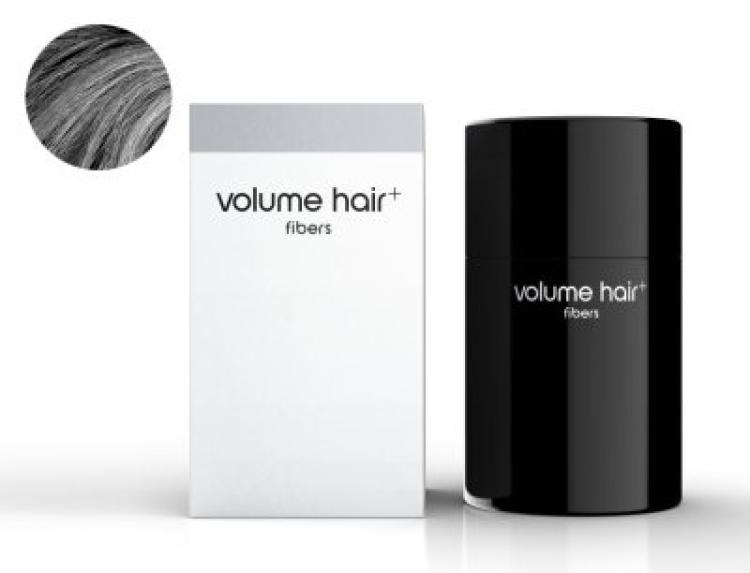 volume hair fibers Haarverdichtungsfasern, grau