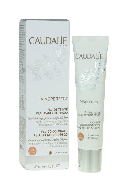 Caudalie Vinoperfect getöntes Fluid medium LSF 20