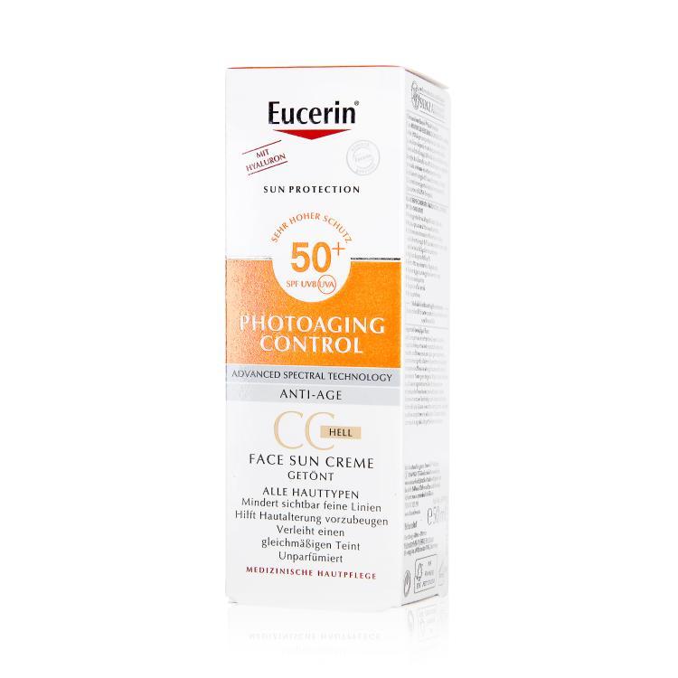 Eucerin Photoaging Control CC Face Sun Creme getönt hell