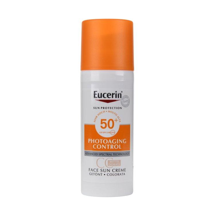 Eucerin Photoaging Control Face Sun CC Creme getönt LSF 50+ mittel