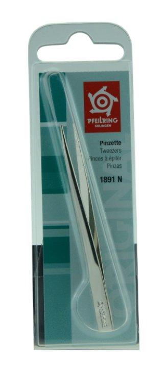 Pfeilring Pinzette 1891 N spitz vernickelt