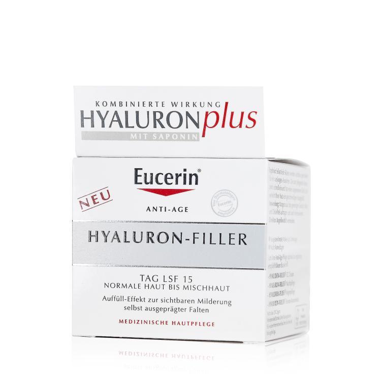 Eucerin Hyaluron-Filler Tagespflege LSF 15 für normale bis Mischhaut