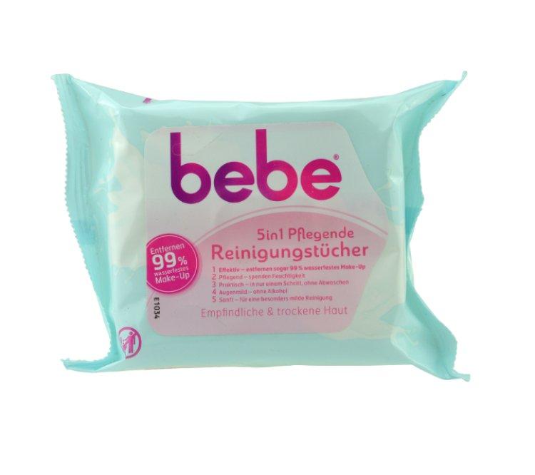 Bebe 5 in 1 Pflegende Reinigungstücher