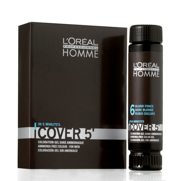 Loreal Homme Cover 5 No 4 Mittelbraun (3x50ml)