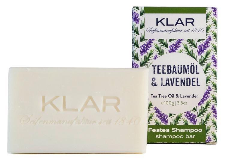 Klar festes Shampoo Teebaumöl & Lavendel